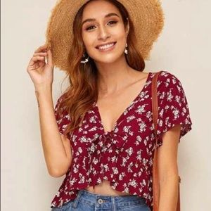 Red Shein Top